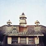 Abandoned Building Roof wit..