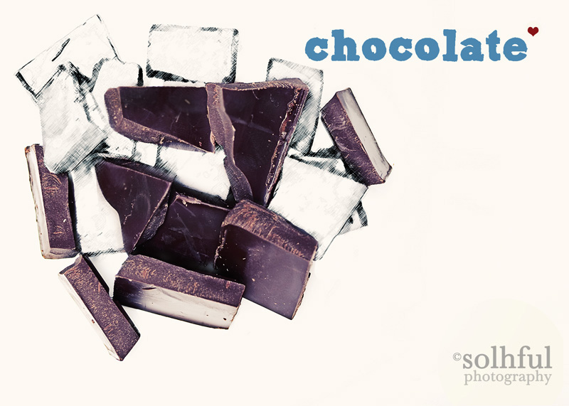 Chocolate Digital Art/Photography Modern Kitchen Art 5x7